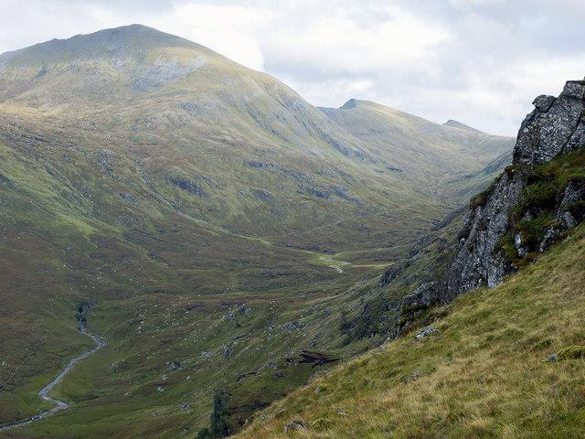 Crags of Sron na Leitir Fhearna