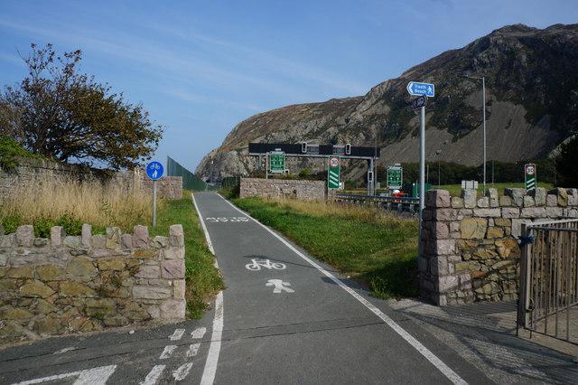 Wales  Coast Path towards Penmaen-bach Point