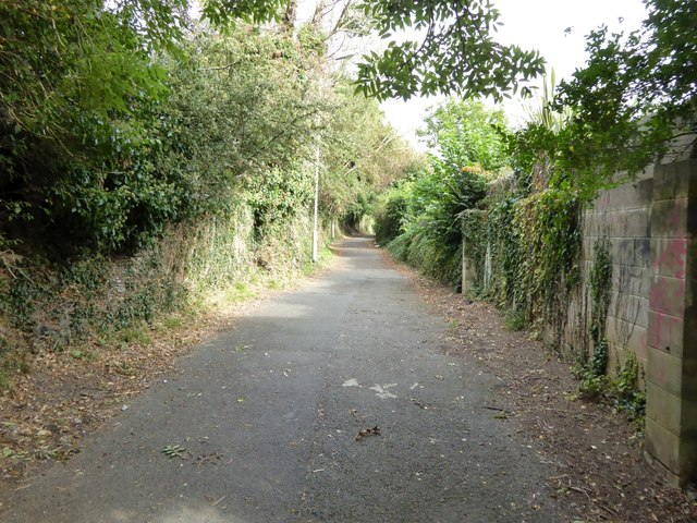 A footpath off Lyndhurst Road, Plymouth