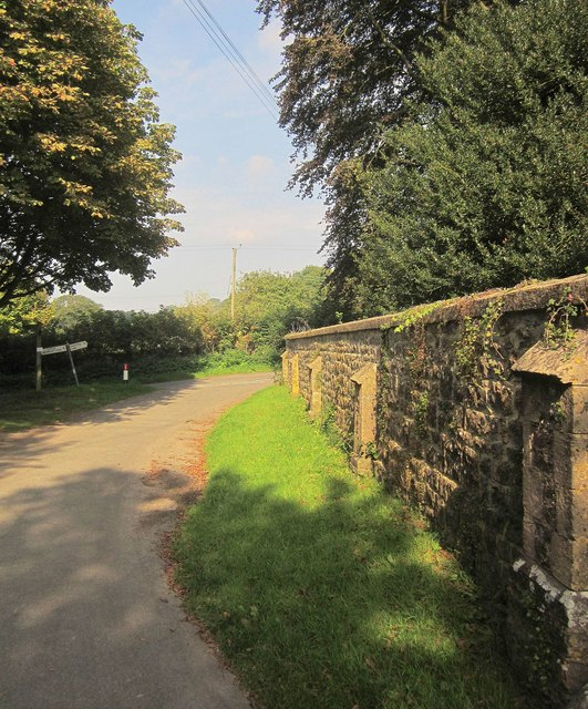 Churchyard wall, Little Sodbury