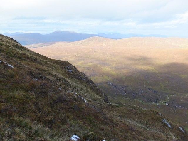Steep slopes of Creag Sgiathan