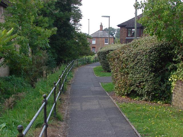 Footpath to Bridge Road, Bagshot