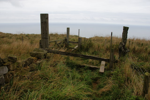 Double stile on Boulby Cliff