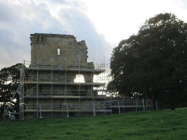 Ayton  Castle  a  ruin  getting  a  facelift