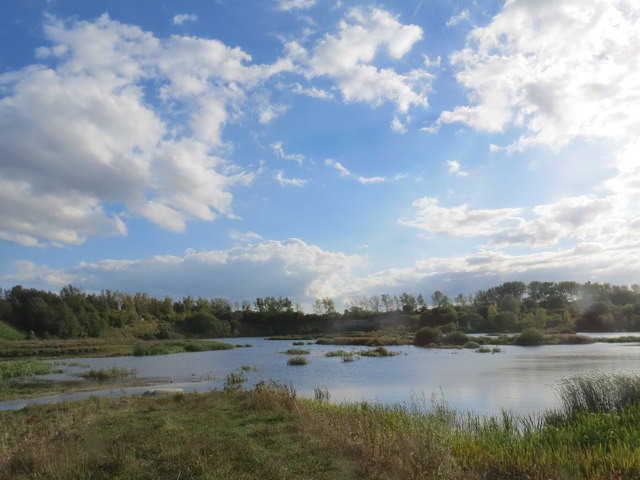 Clouds over The Marsh at College Lake