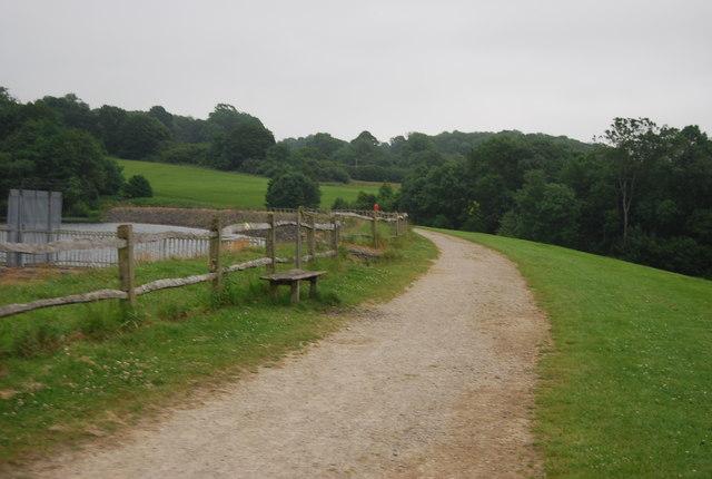 Footpath across the dam, Ardingly Reservoir