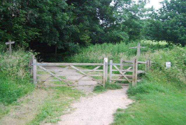 Gated footpath near the dam