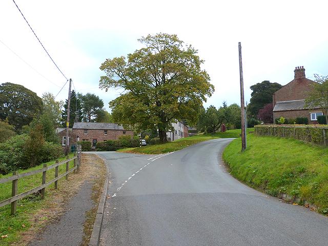 Road junction in Glassonby
