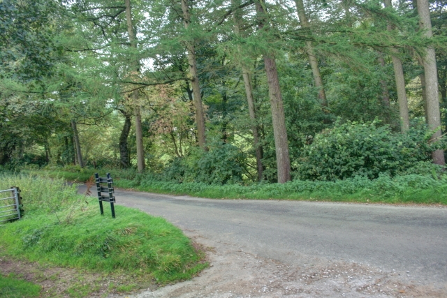 Entrance to Car Park in Clough Brook