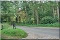 SJ9767 : Entrance to Car Park in Clough Brook by Mick Garratt
