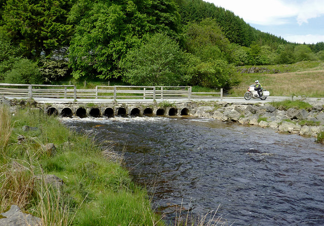 Irish Bridge across the Afon Irfon, Powys