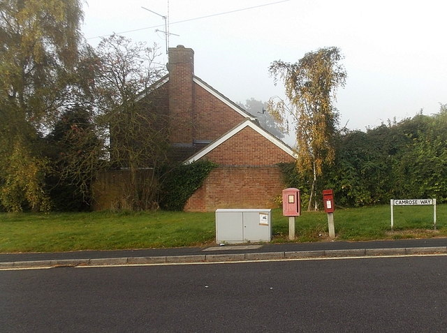 Three boxes, Camrose Way, Basingstoke