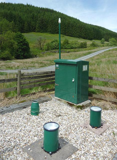 Meteorological station in Cwm Irfon, Powys