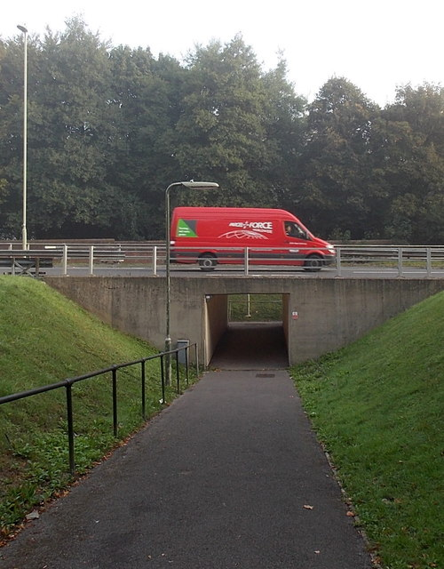 Pedestrian underpass at Hackwood Road Roundabout, Basingstoke
