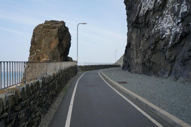 Wales  Coast Path at Penmaen-bach Point