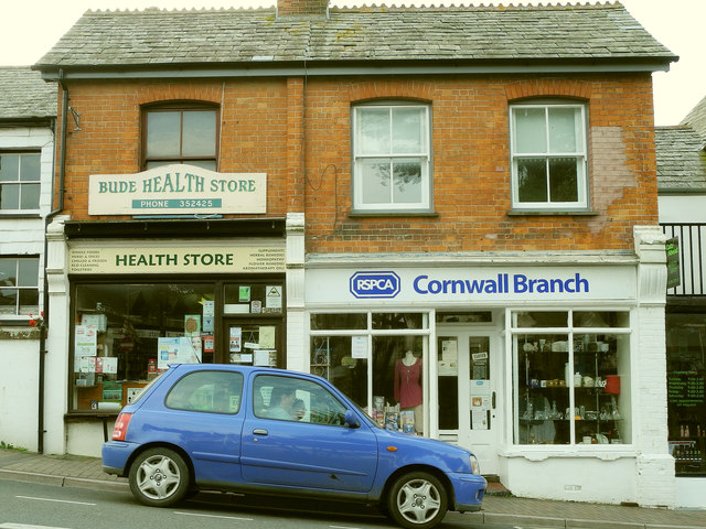 RSPCA charity shop, 6, Lansdown Road, Bude