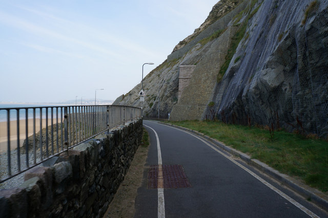 Wales  Coast Path at Penmaen-bach Point