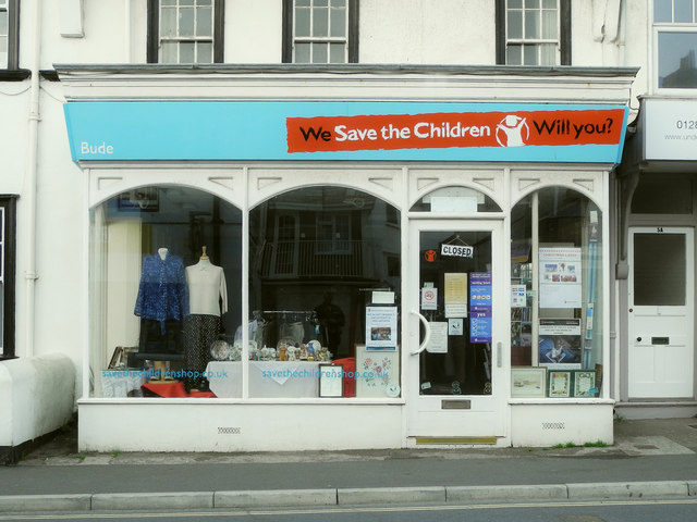 Save The Children charity shop, 3 Queen St, Bude