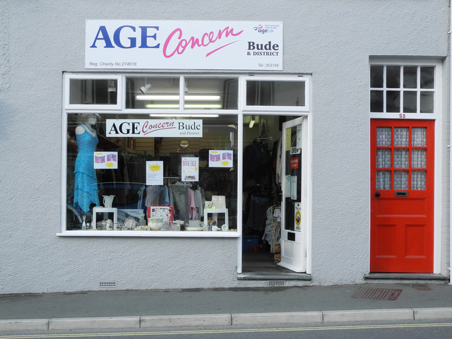 Age Concern charity shop, 25 Queen St, Bude