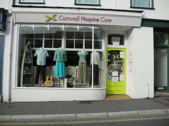 Cornwall Hospice Care charity shop, 33 Queen Street, Bude