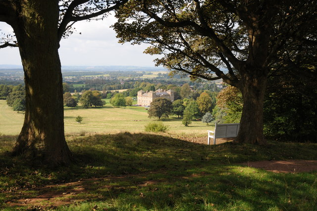 Hagley Hall and Park from Milton's Seat