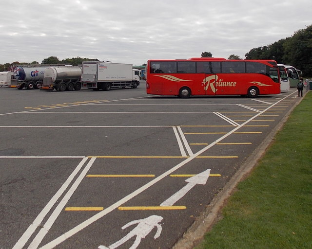 Coach and lorry park in Membury East