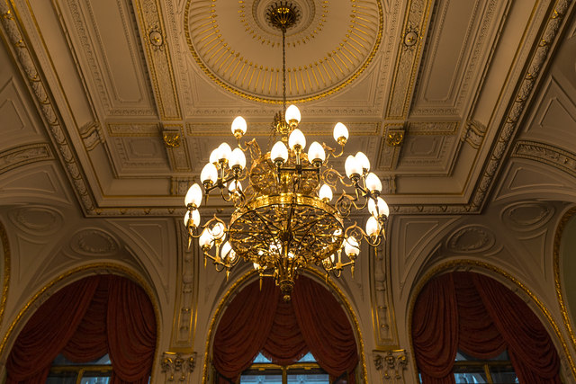 Ceiling and Chandelier, Foreign and Commonwealth Office, King Charles Street, London SW1