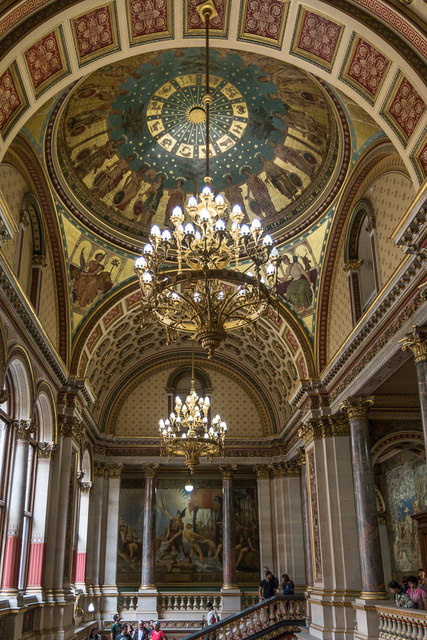Ceiling over Staircase, Foreign and Commonwealth Office, King Charles Street, London SW1