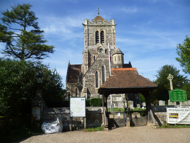 The west front of St Giles Church, Shipbourne