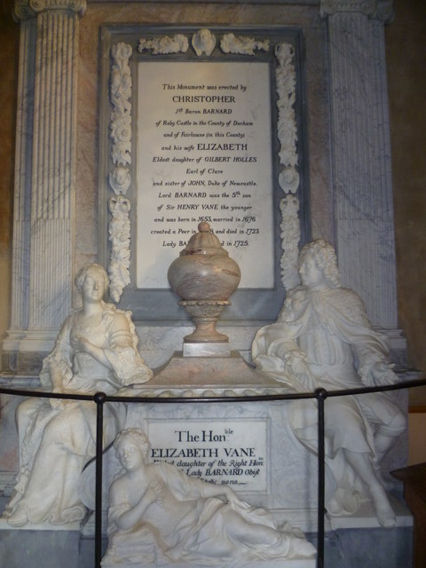 The Barnard monument in St Giles Church, Shipbourne