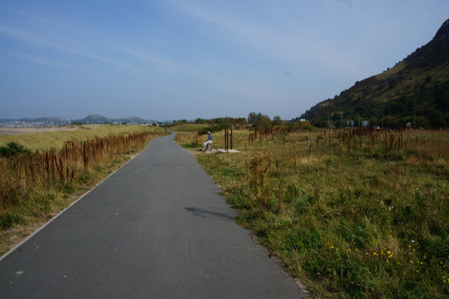 Wales  Coast Path towards Conwy Morfa