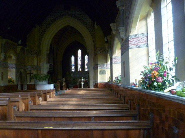 The interior of St Giles Church, Shipbourne