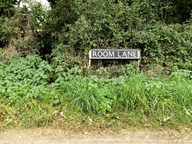 Room Lane sign