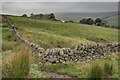 SJ9869 : Dry Stone Wall Corner by Mick Garratt