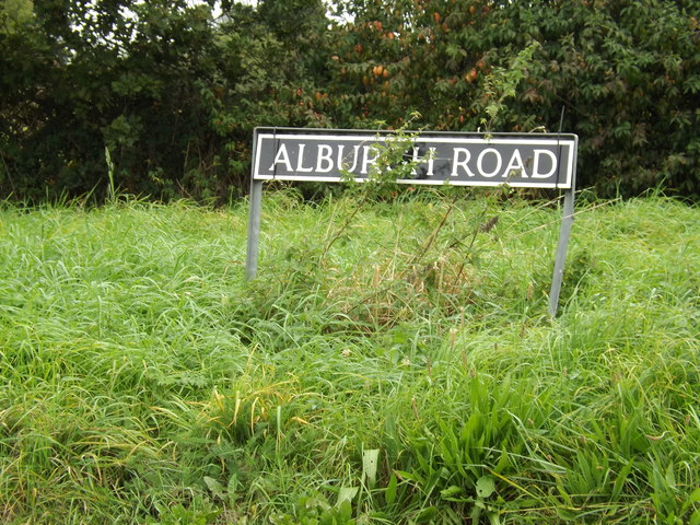 Alburgh Road sign