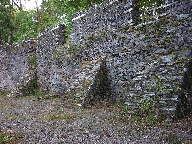 Duddon Iron Furnace - the later charcoal store