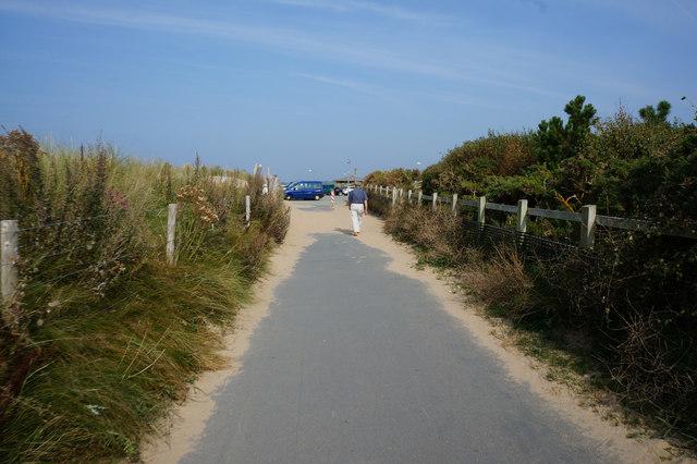 Wales  Coast Path towards Conwy Morfa