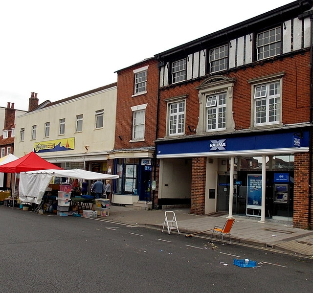 Halifax, TSB and a former Woolworths in Lymington
