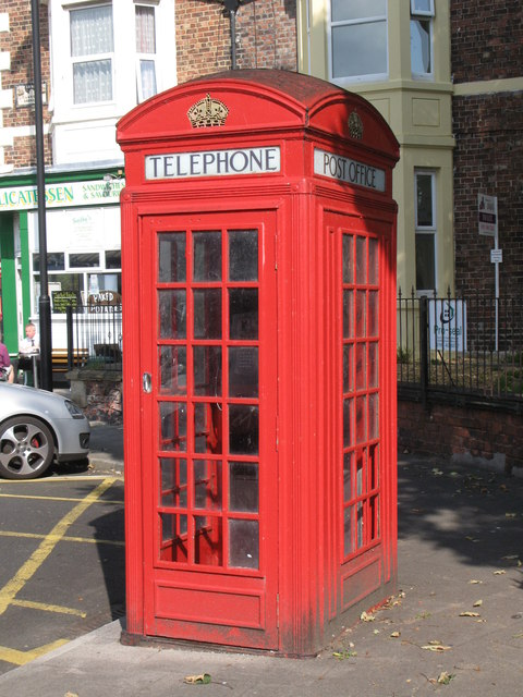 K4 telephone box outside Whitley Bay Metro station