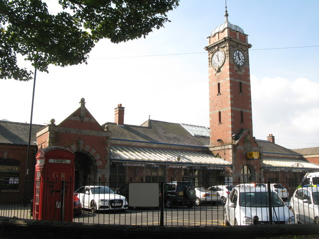 Whitley Bay Metro station - entrance buildings