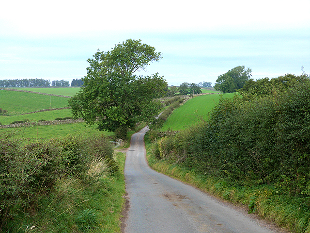 Lane north of Gamblesby