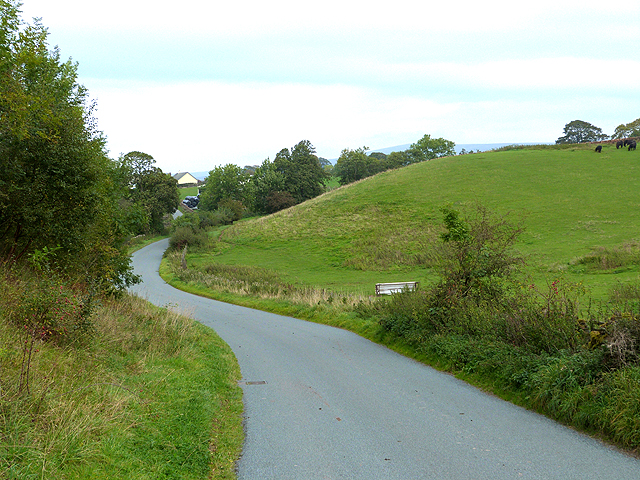 Switchback road from Melmerby to Gamblesby