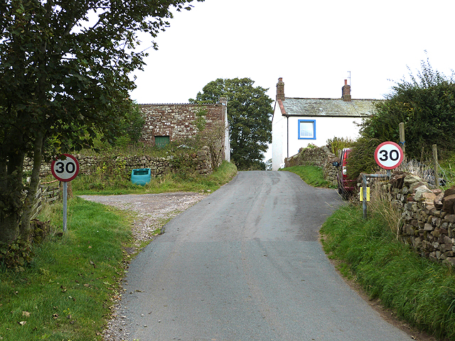Entering Gamblesby village