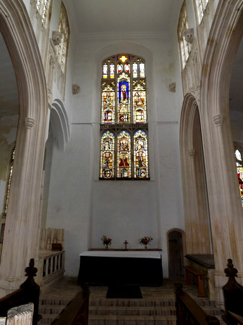 Altar & Stained Glass Window of St.Mary's Church