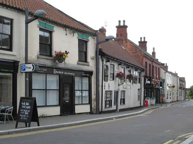 Crowle - shops around The White Hart