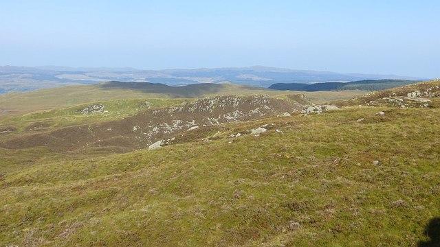 Moorland above Loch nan Cèard Mòr