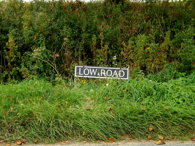Low Road sign