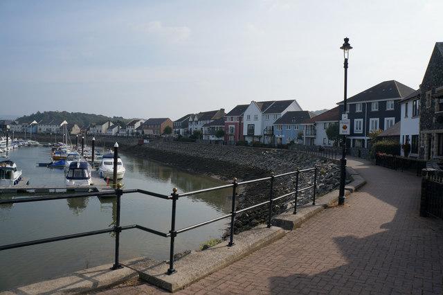 Wales  Coast Path at Conwy Marina