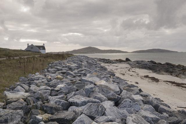 Shoreline and sea defences at West Kilbride