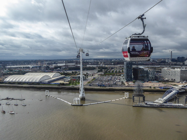 Cable Car and Pylons, London